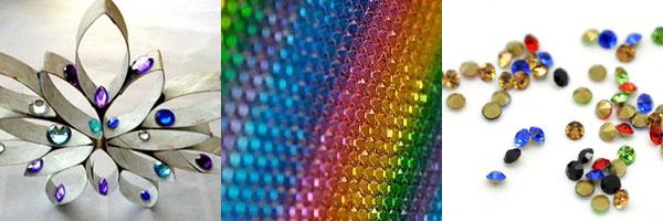Разноцветные стразы